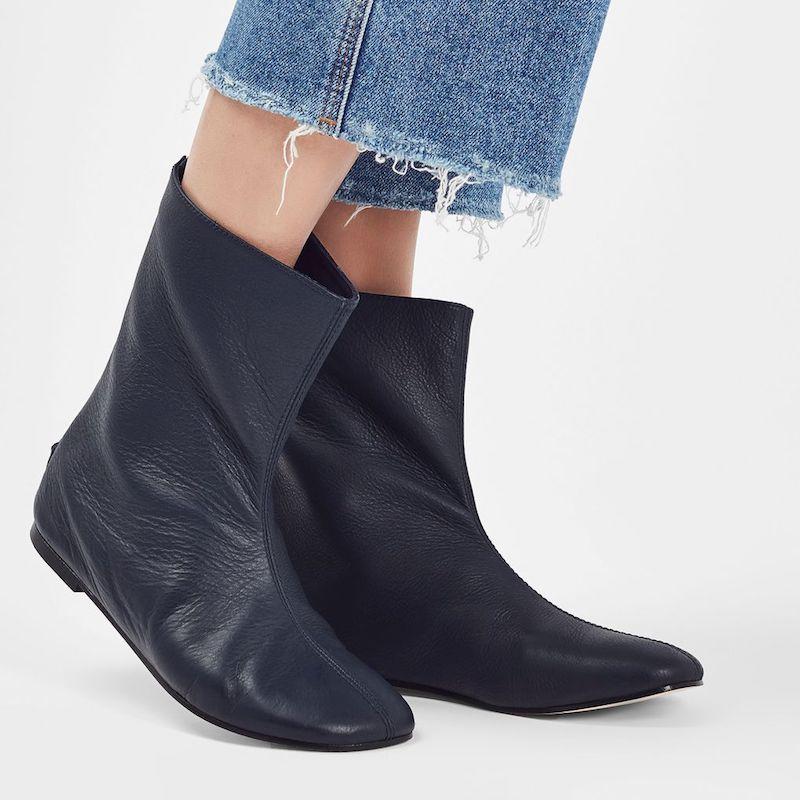 Molly Goddard x Topshop Calf Boots Black