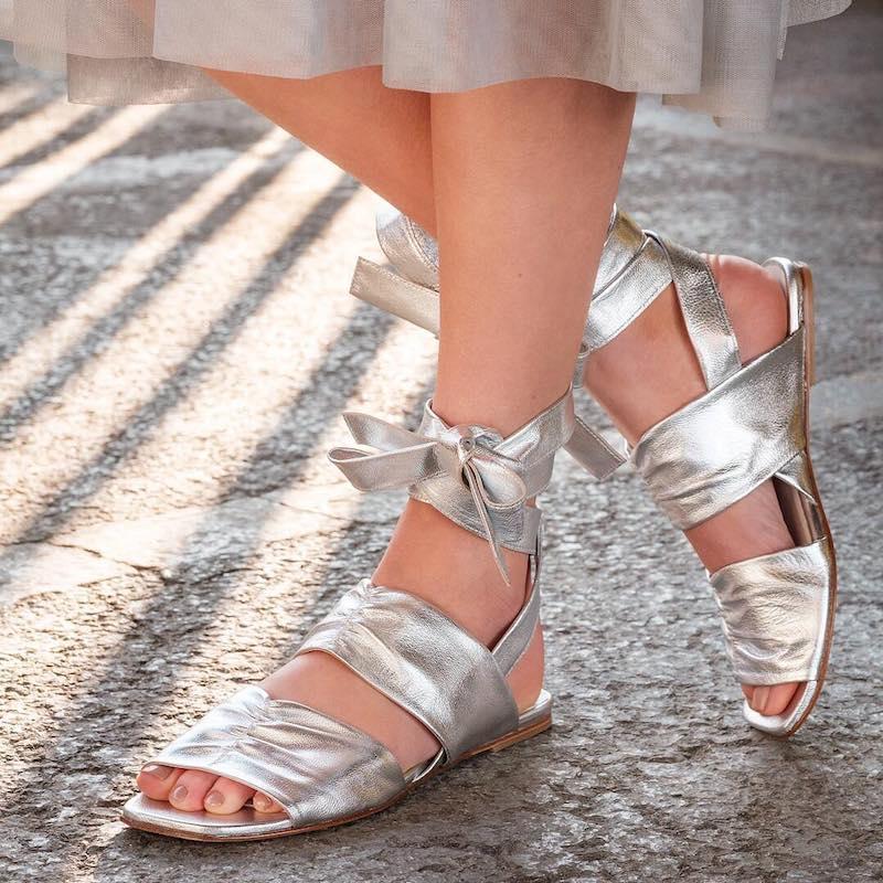 Molly Goddard x Topshop Tie Flat Sandals
