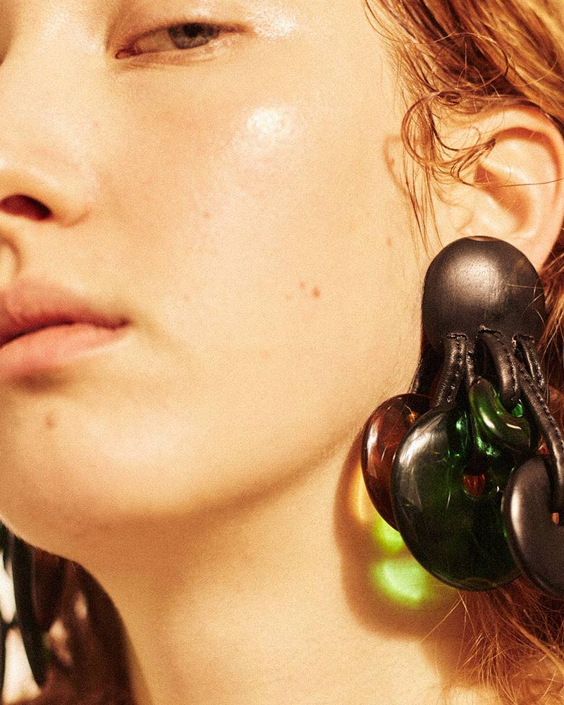Monies Ebony Clip-On Disk Earrings