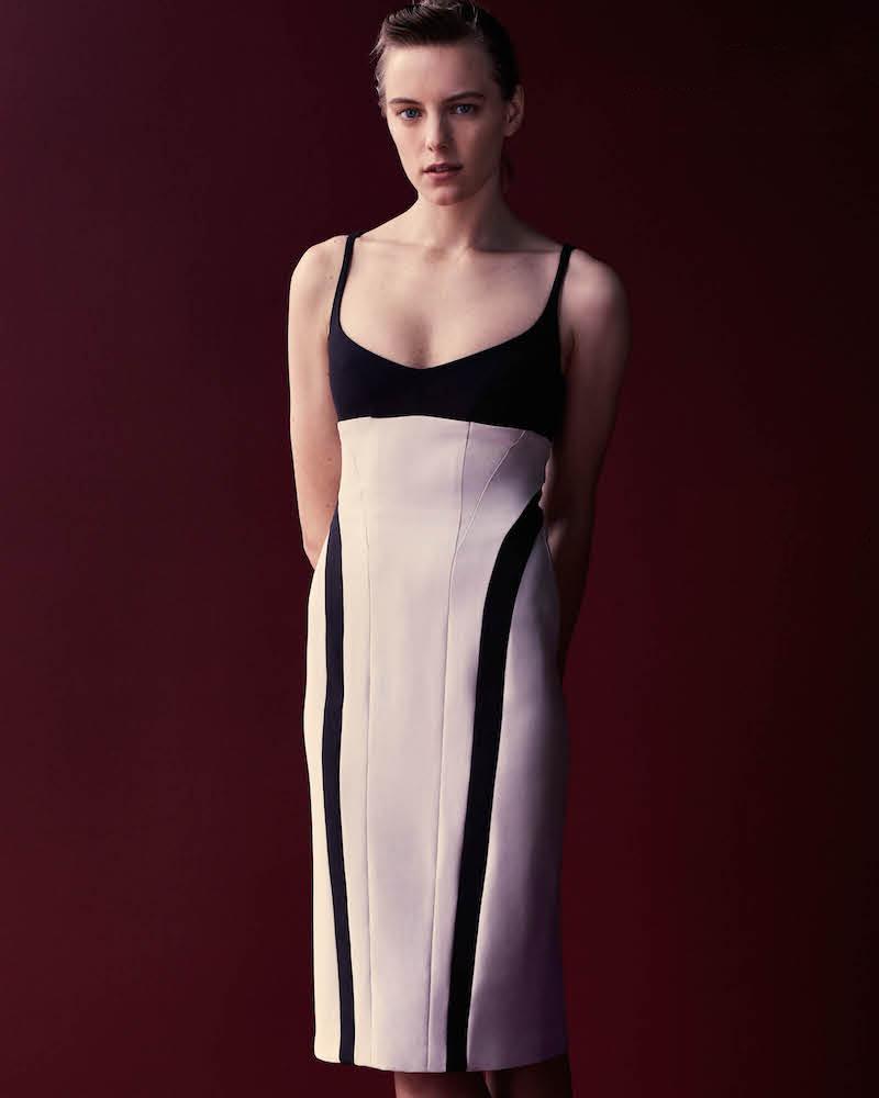 Narciso Rodriguez Colorblocked Sheath Dress