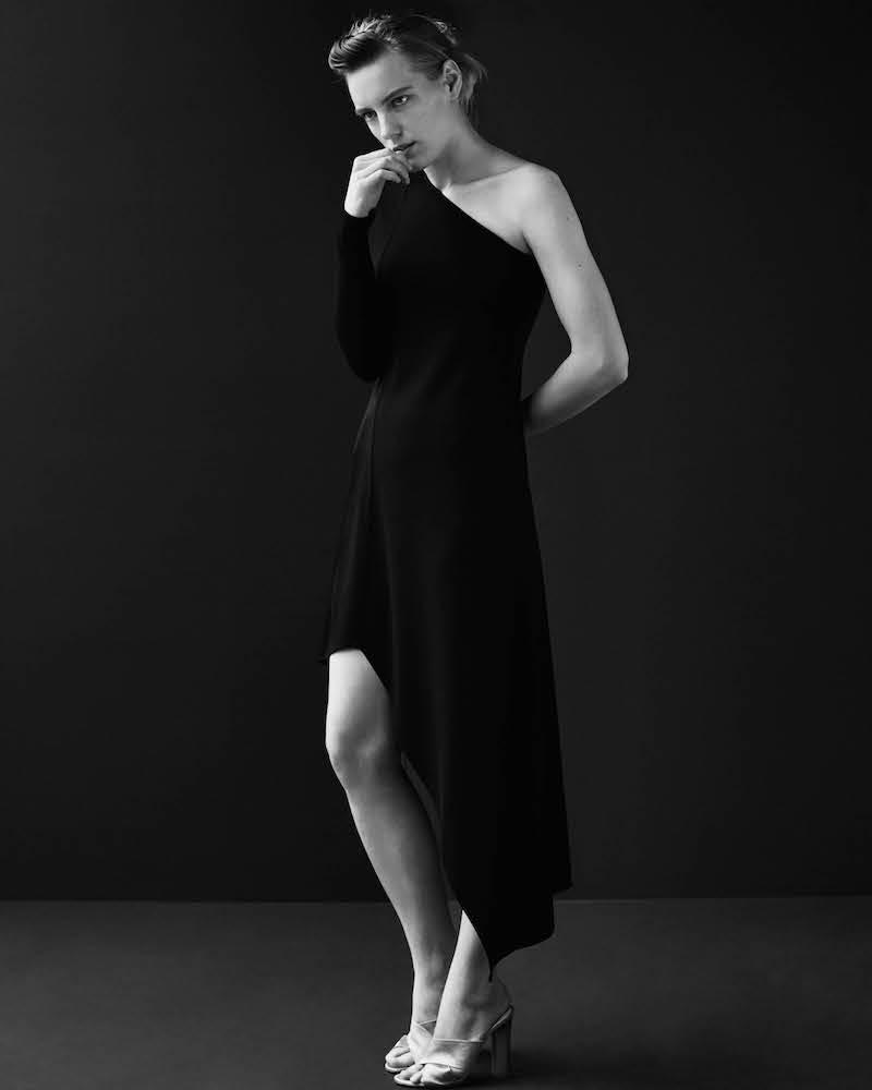 Narciso Rodriguez Crepe One-Shoulder Dress
