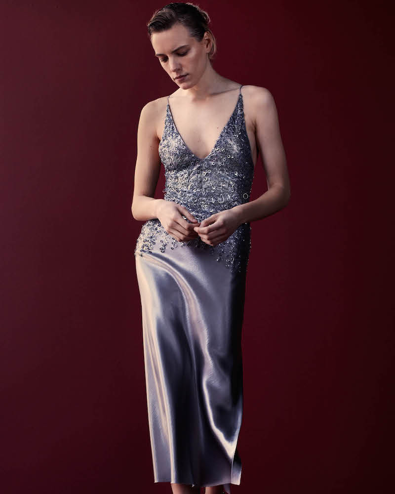 Narciso Rodriguez Silk Embellished Gown