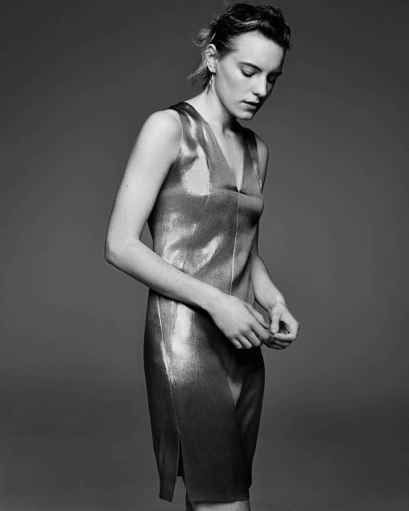 Narciso Rodriguez Silk Sleeveless Sheath Dress