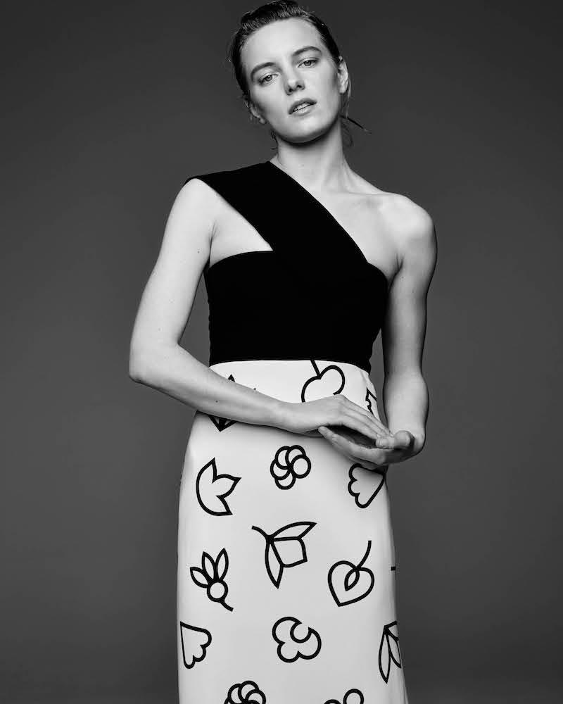 Narciso Rodriguez Stretch-Silk Floral-Print Sheath Dress