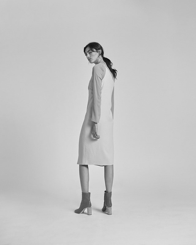 Nomia Peak One-Shouldered Dress