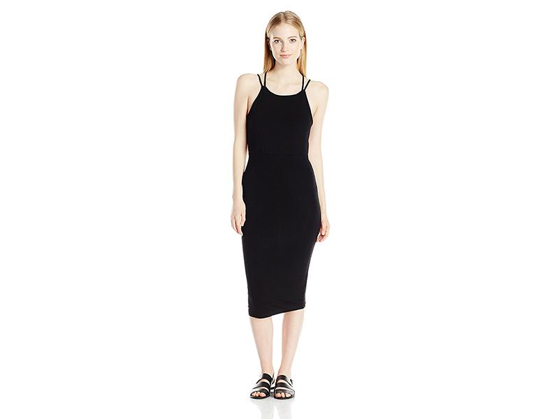 OBEY Joan Strap Back Bodycon Midi Dress