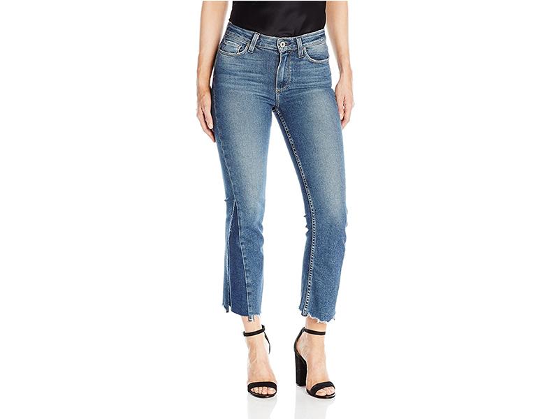PAIGE Pieced Colette Jeans-Kenya Distressed