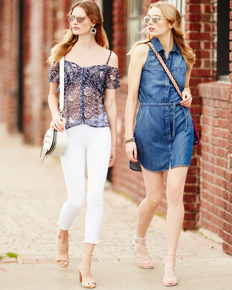 Paige Denim Eugenie Sleeveless Belted Chambray Shirtdress