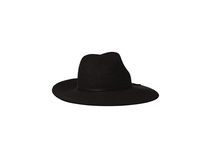 Phenix Cashmere Wide Brim Wool Felt Fedora Hat