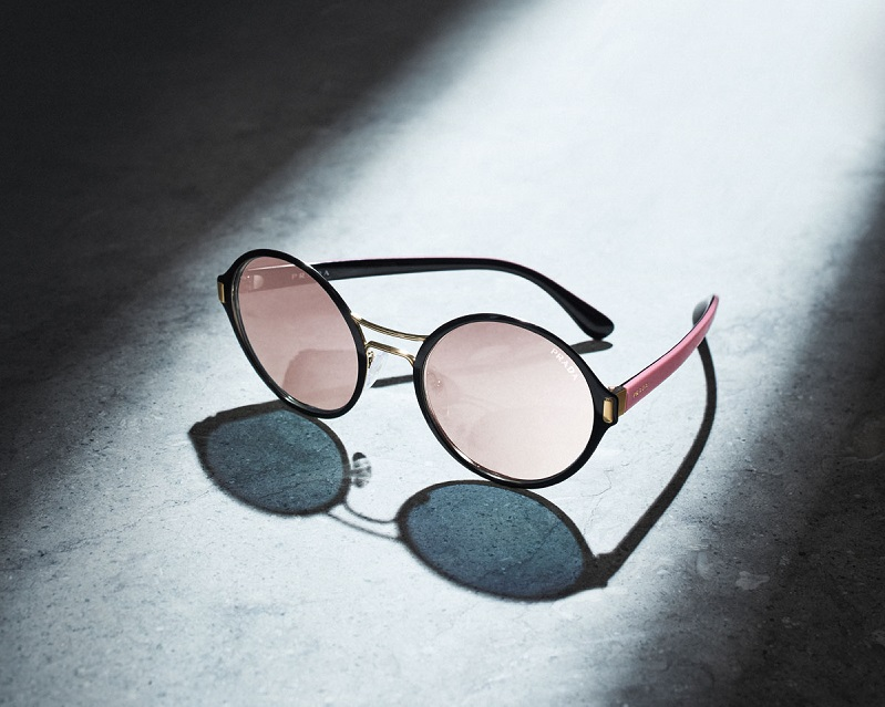 Prada Round Mirrored Iridescent Sunglasses