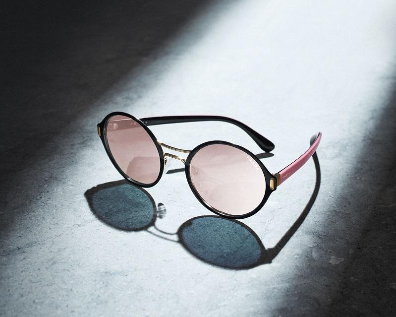 Prada Round Mirrored Iridescent Sunglasses