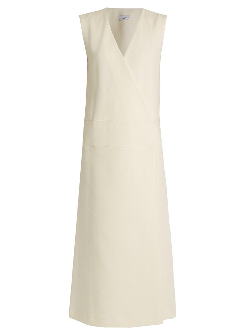 Raey Sleeveless crepe wrap dress