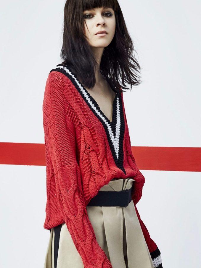 Rag & Bone Emma Cable-Knit Sweater
