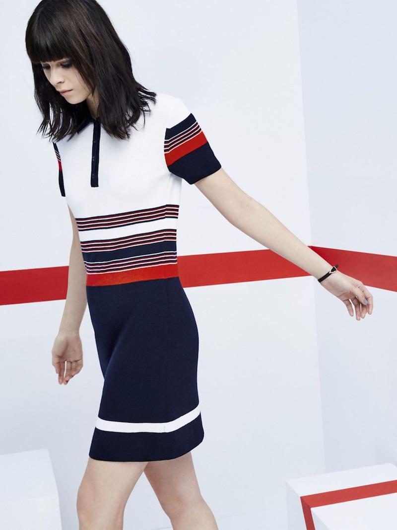 Rag & Bone Krista Striped Polo Dress