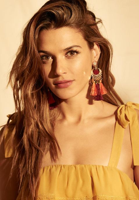 Rebecca Minkoff Tassel & Pom Drama Chandelier Earrings