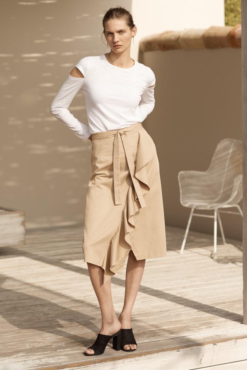 Robert Rodriguez Asymmetrical Ruffle Skirt