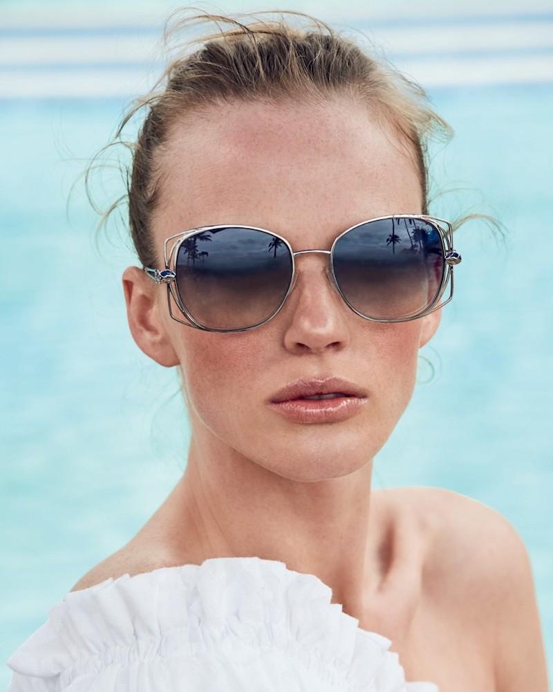 Roberto Cavalli 55MM Oversized Square Sunglasses