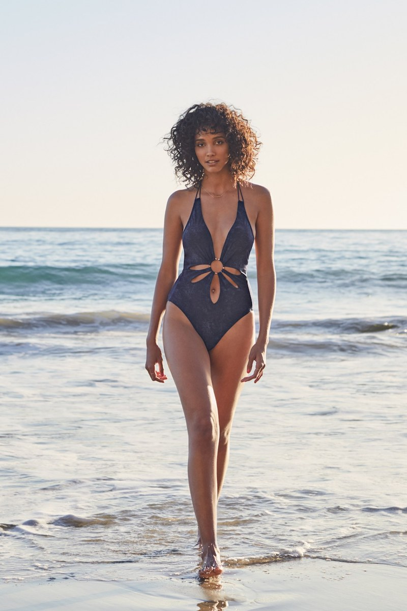 Robin Piccone Plunge One-Piece Swimsuit