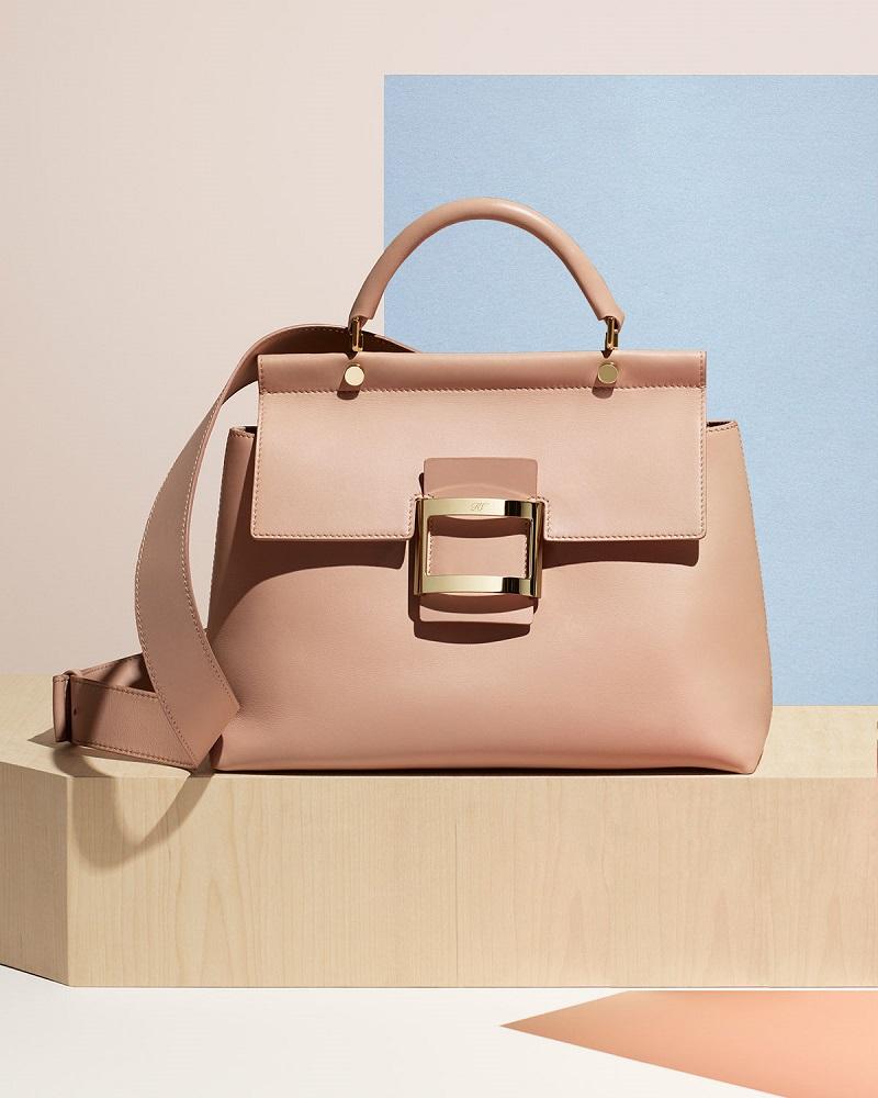 Roger Vivier Viv Cabas Medium Top-Handle Satchel Bag