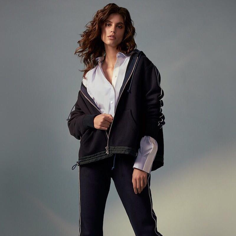 Sacai Grosgrain-Trimmed Cotton-Blend Jersey Hooded Top