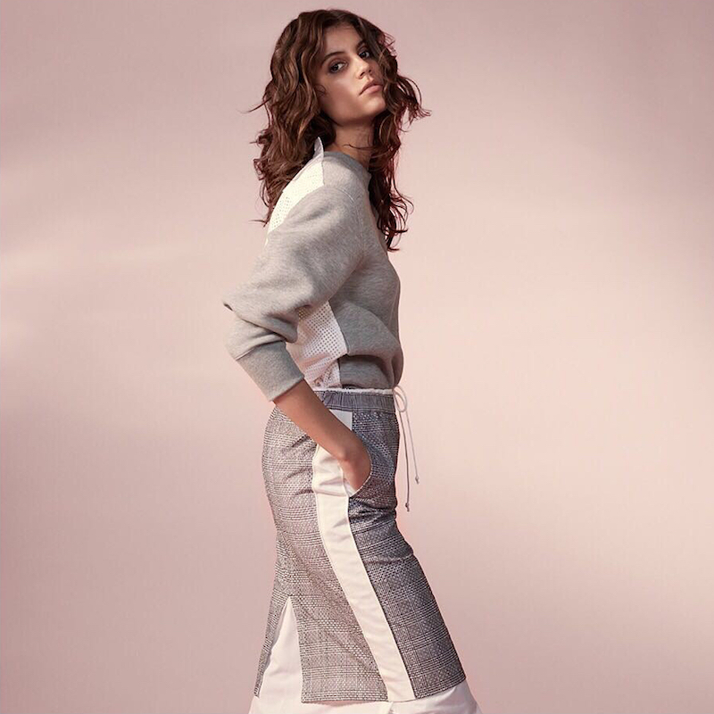 Sacai Lace-Trimmed Cotton-Blend Jersey and Laser-Cut Poplin Sweatshirt
