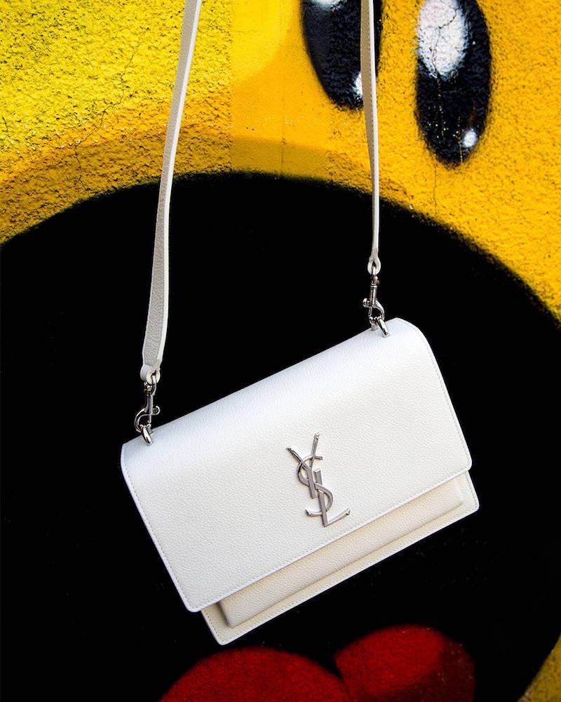 Saint Laurent Medium Sunset Monogram Leather Bag
