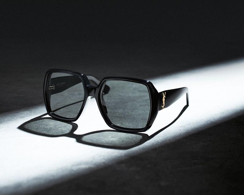Saint Laurent Oversized Square Monochromatic Sunglasses