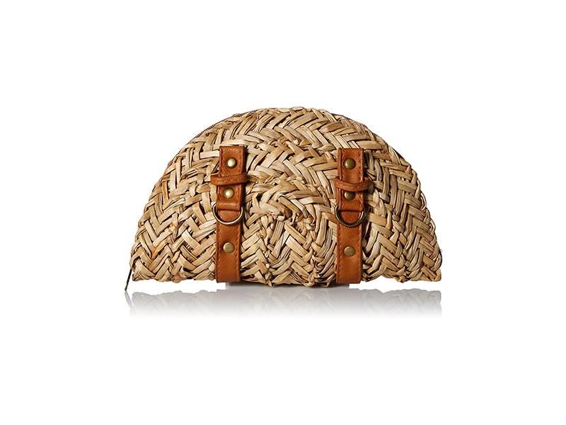 San Diego Hat Company Sea Grass Clutch with Leather Straps