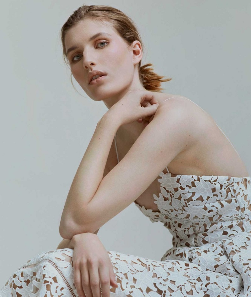 Self-Portrait Azalea V-neck lace midi dress