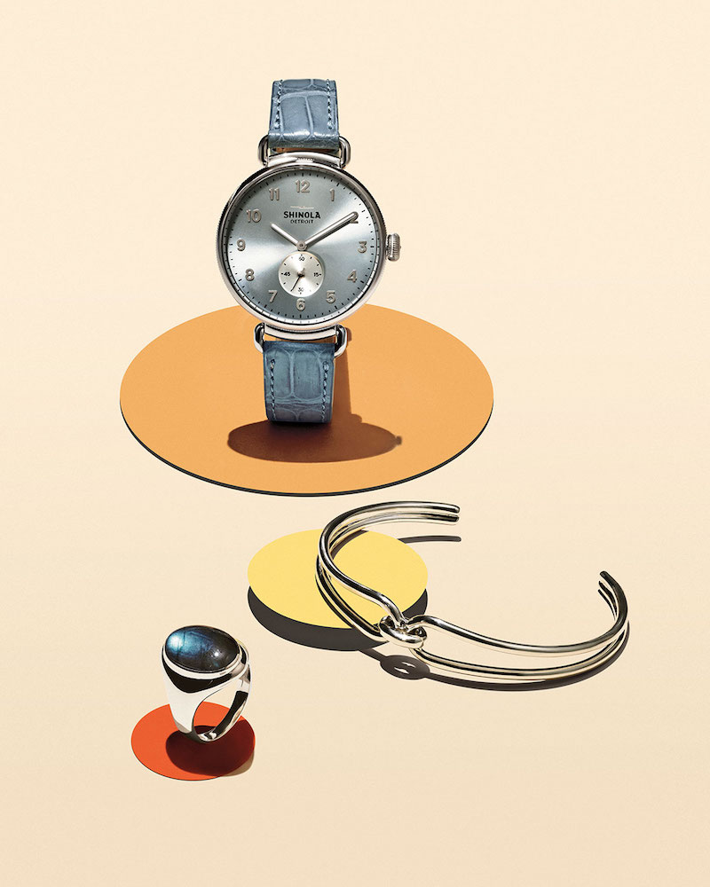 Shinola The Canfield 38mm Watch with Alligator Strap
