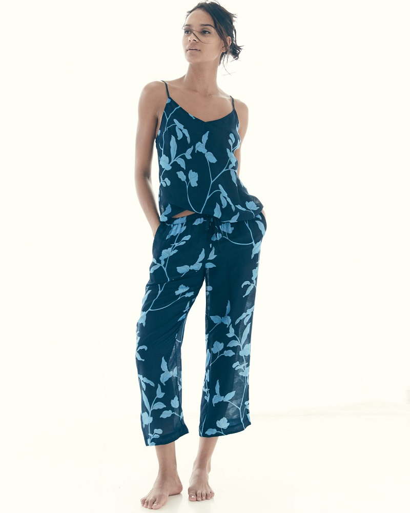 Skin Floral-Print Bias-Cut Camisole