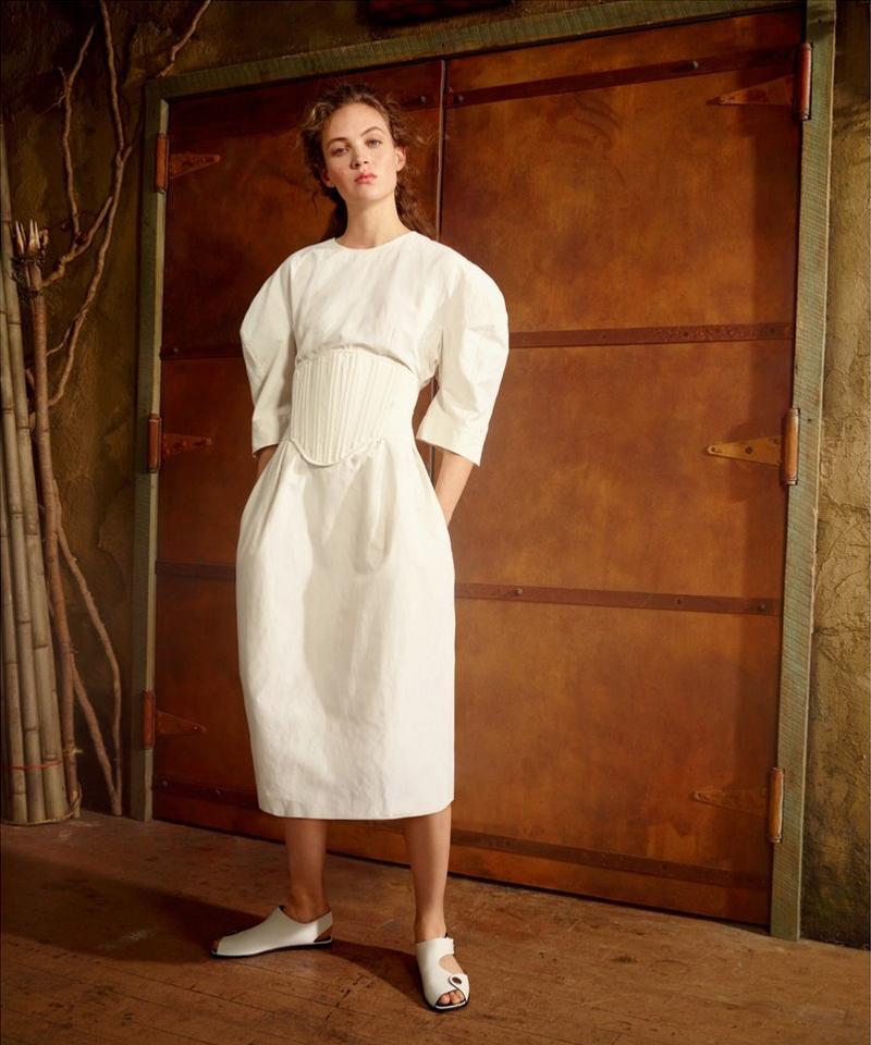 Stella McCartney Aleena Round Shoulder Dress