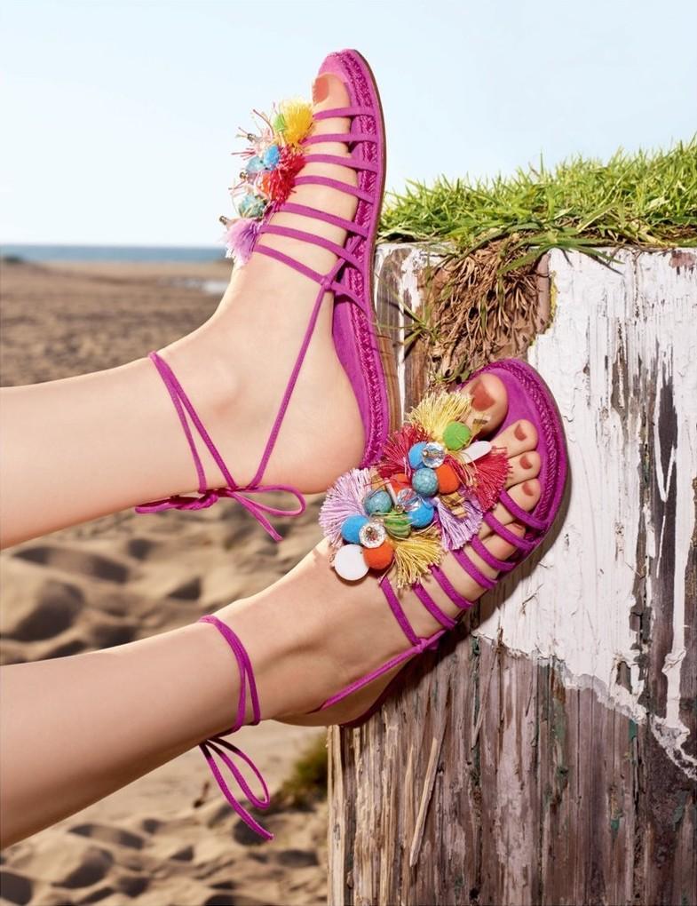 Stuart Weitzman Noodles Embellished Suede Sandals