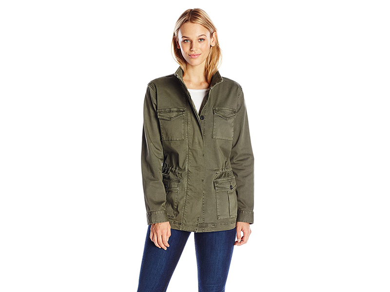 Two by Vince Camuto Stretch Sateen Classic Cargo Jacket