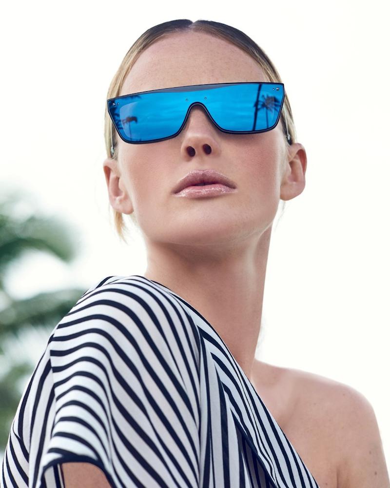 Valentino Glamgloss Mirrored Flat-Top Sunglasses