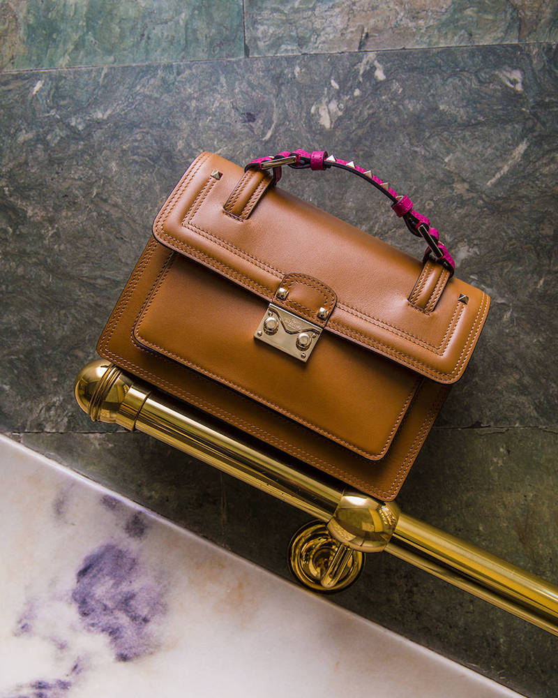 Valentino Small Squared Bicolor Cabana Bag