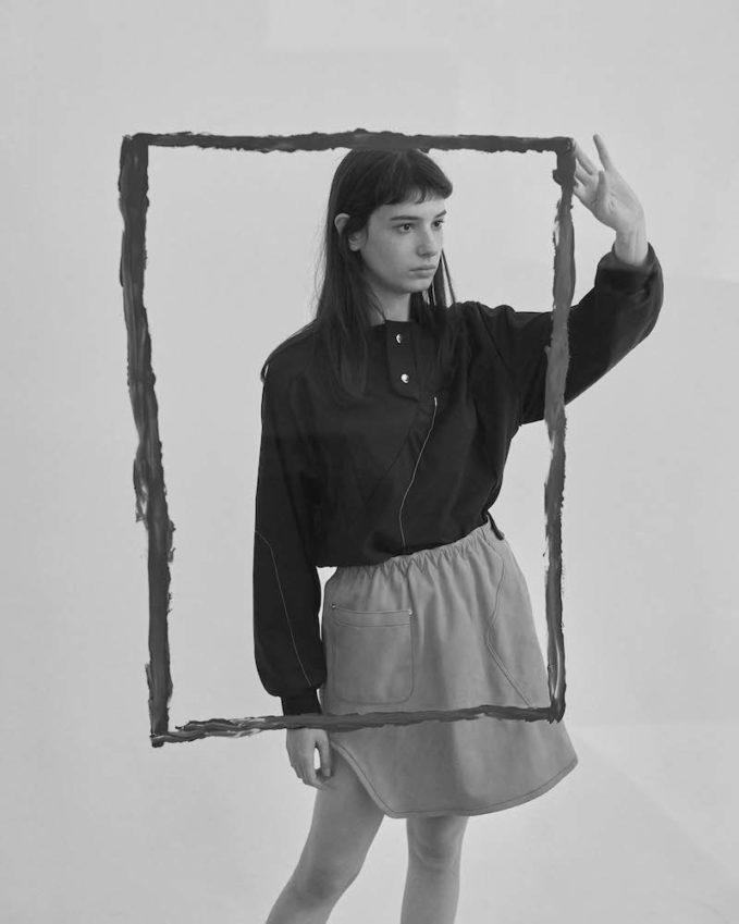 Vejas Worker s Glove Suede Miniskirt
