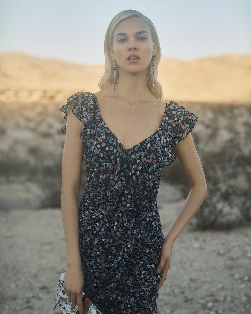 Veronica Beard Marilyn Cold Shoulder Dress