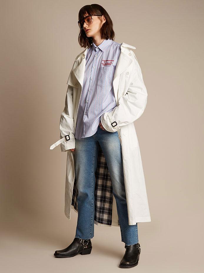 Vetement X Mackintosh cotton trench coat
