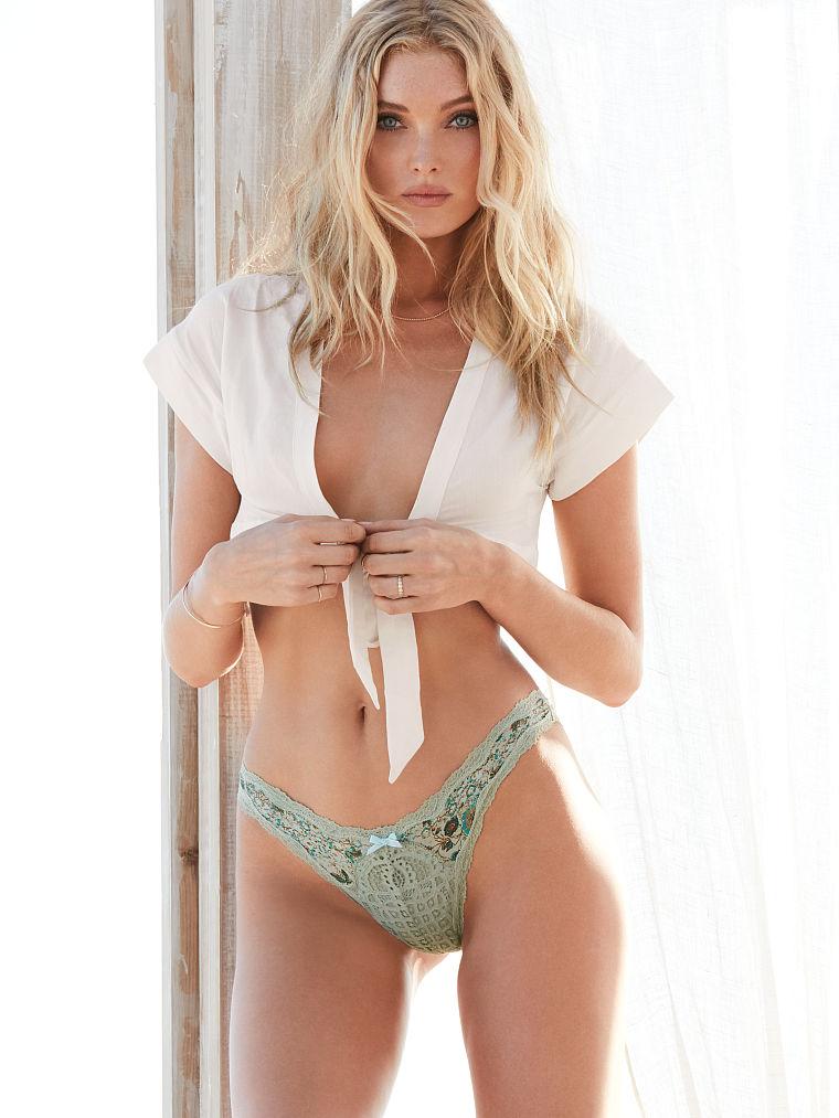 Victorias Secret Crochet Lace Cheekini Panty