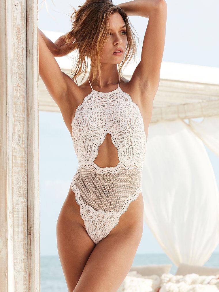 Victorias Secret Cutout High-neck Teddy