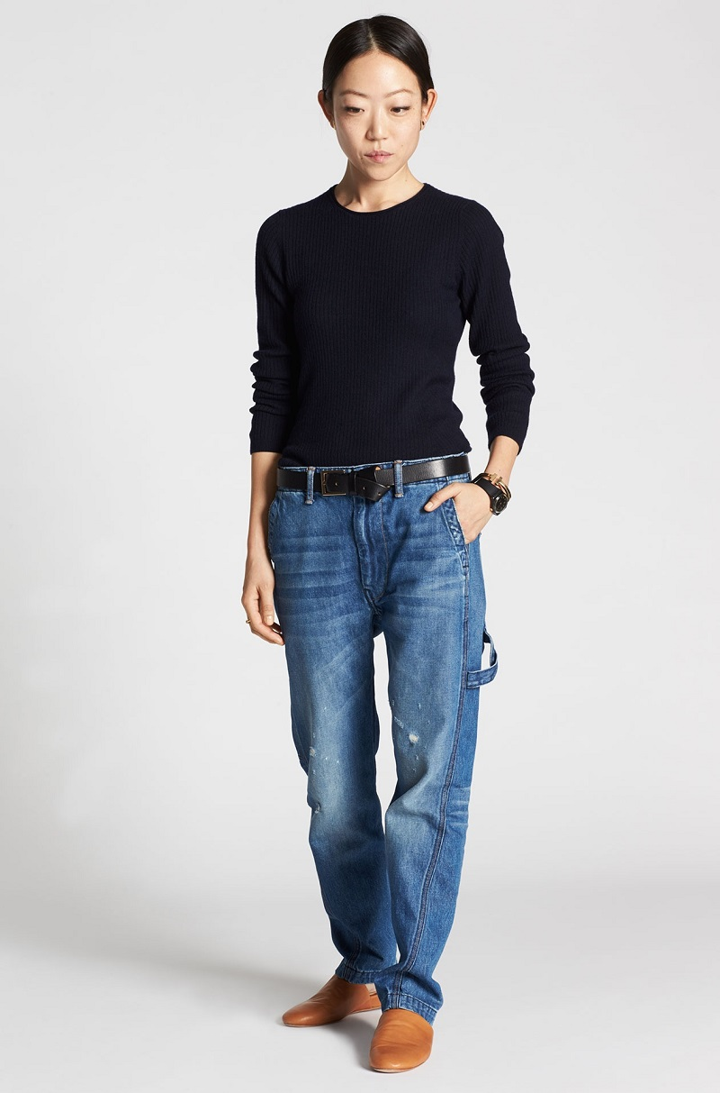 Vince Round-neck cotton-blend sweater
