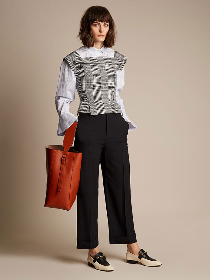 Vivienne Westwood Anglomania Bettle checked taffeta square-neck top