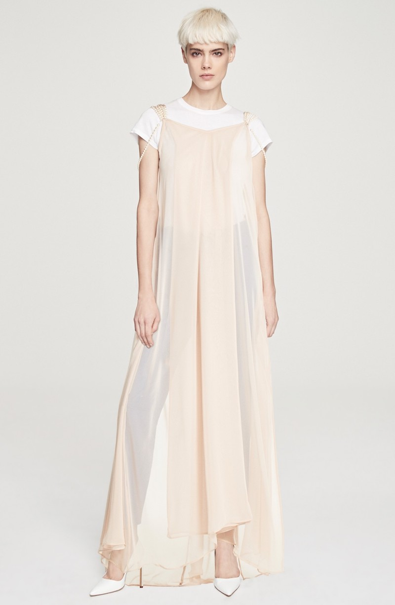 Y/PROJECT Mother of Pearl Embellished Slipdress