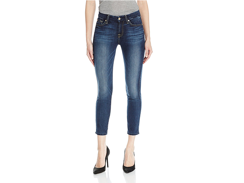 7 For All Mankind Kimmie Crop in Iron Cove