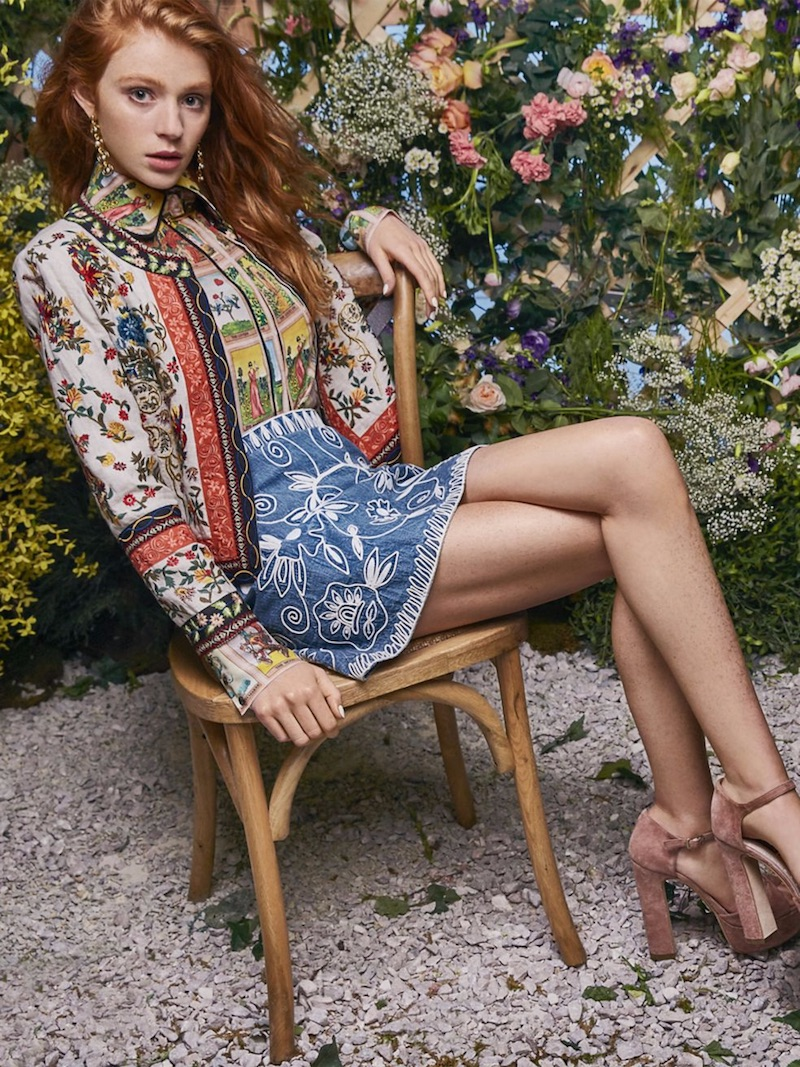 Alice + Olivia Esme Embroidered Linen Jacket