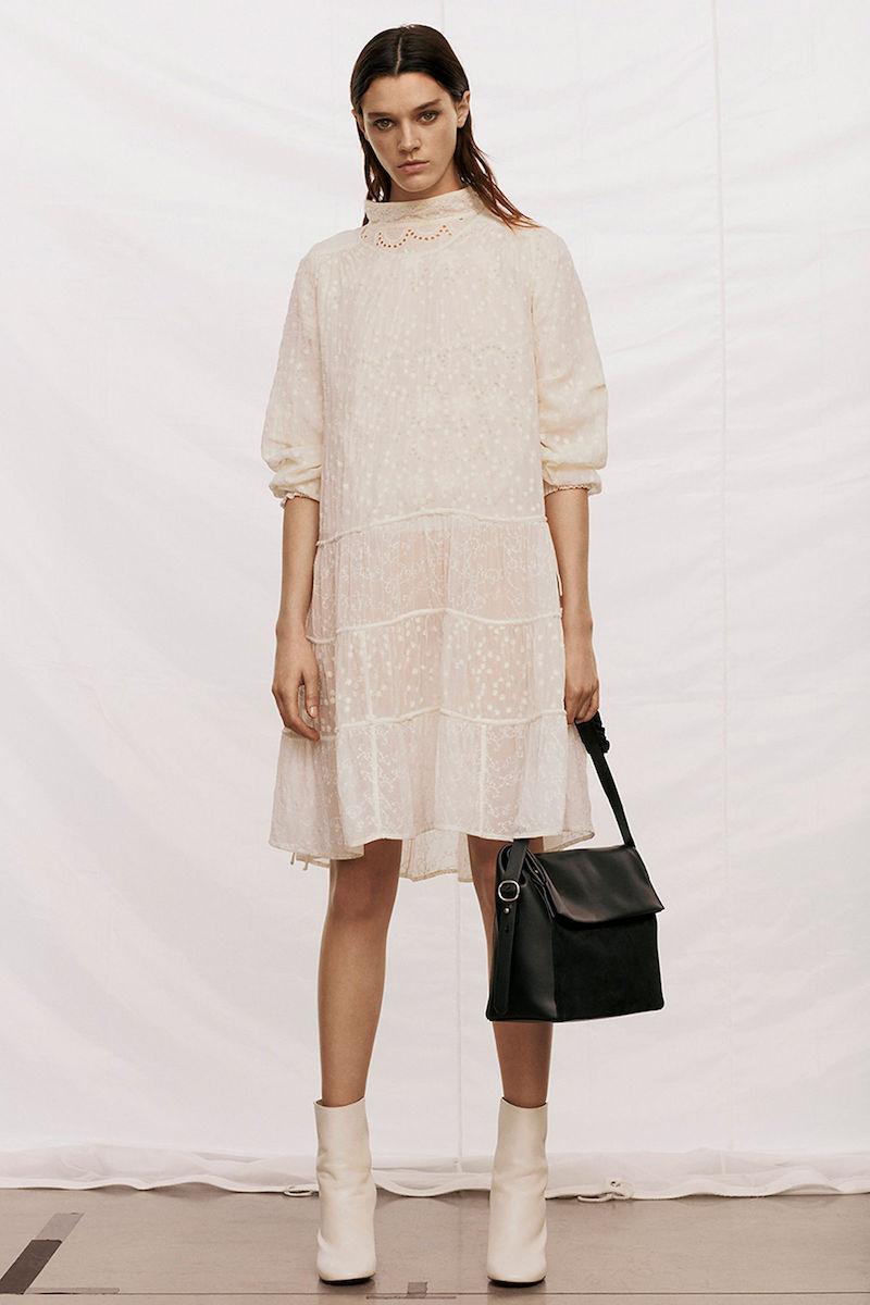 AllSaints Abelie Embroidered Dress