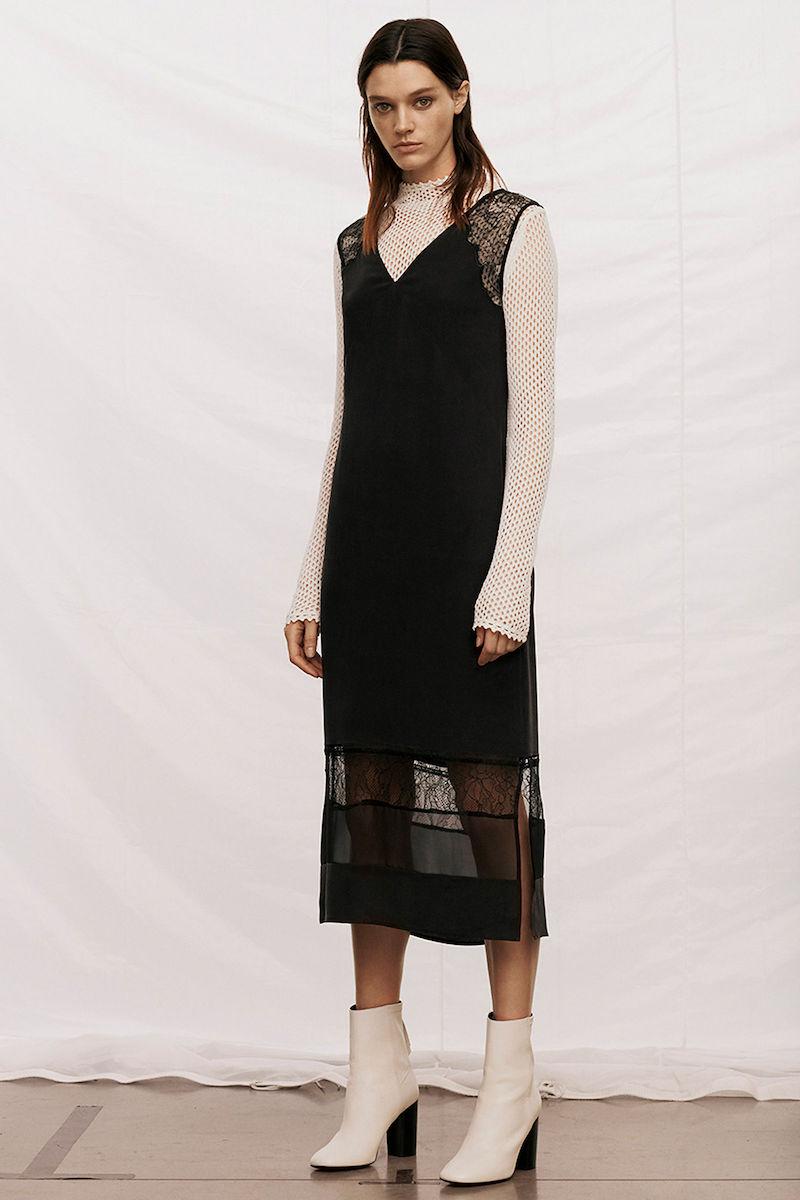AllSaints Long Prism Silk Dress