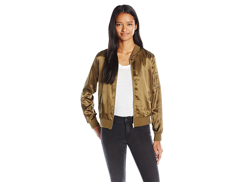 Almost Famous Bomber Jacket with Zip Pocket