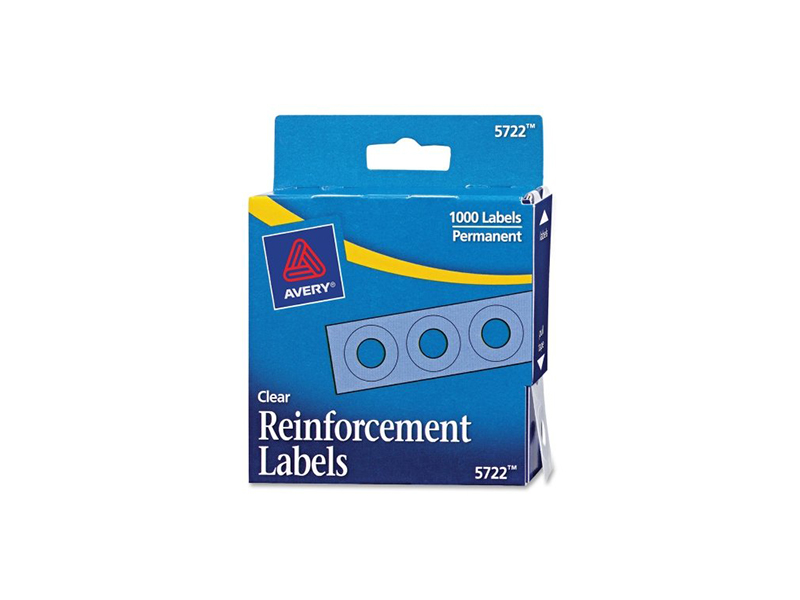 Avery Clear Self-Adhesive Reinforcement Labels